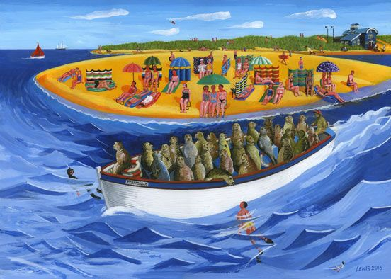 Ptarmigan Blakeney Seal Trip by local artist, Brian Lewis